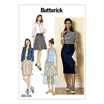 Butterick Schnitt B6326 'Rock-Variationen'