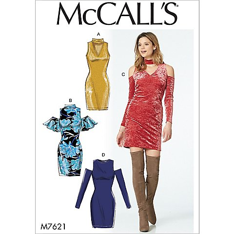 McCall´s Schnitt M7621 ´´Cut-Out-Kleid´´