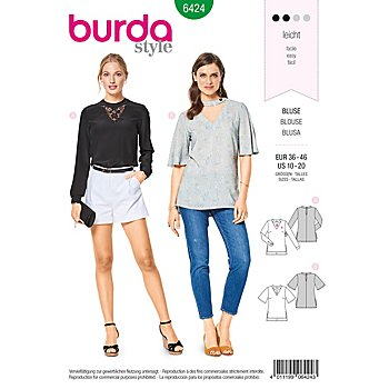 burda Schnitt 6424 'Cut-Out Bluse'