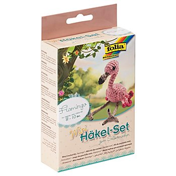 Folia Häkelkomplett-Set 'Flamingo'