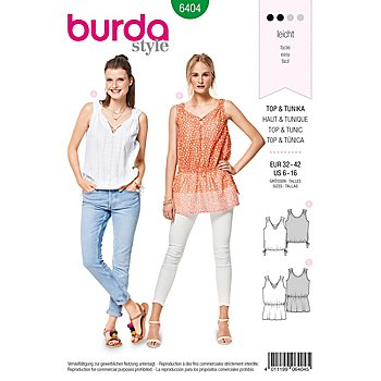 burda Schnitt 6404 'Top & Tunika'
