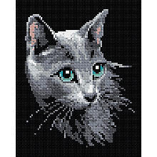 Kit broderie diamant 'chat'