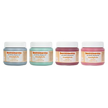 buttinette Kreidefarben-Set, blau-color, 4x 150 ml