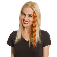 Extension de cheveux, orange fluo