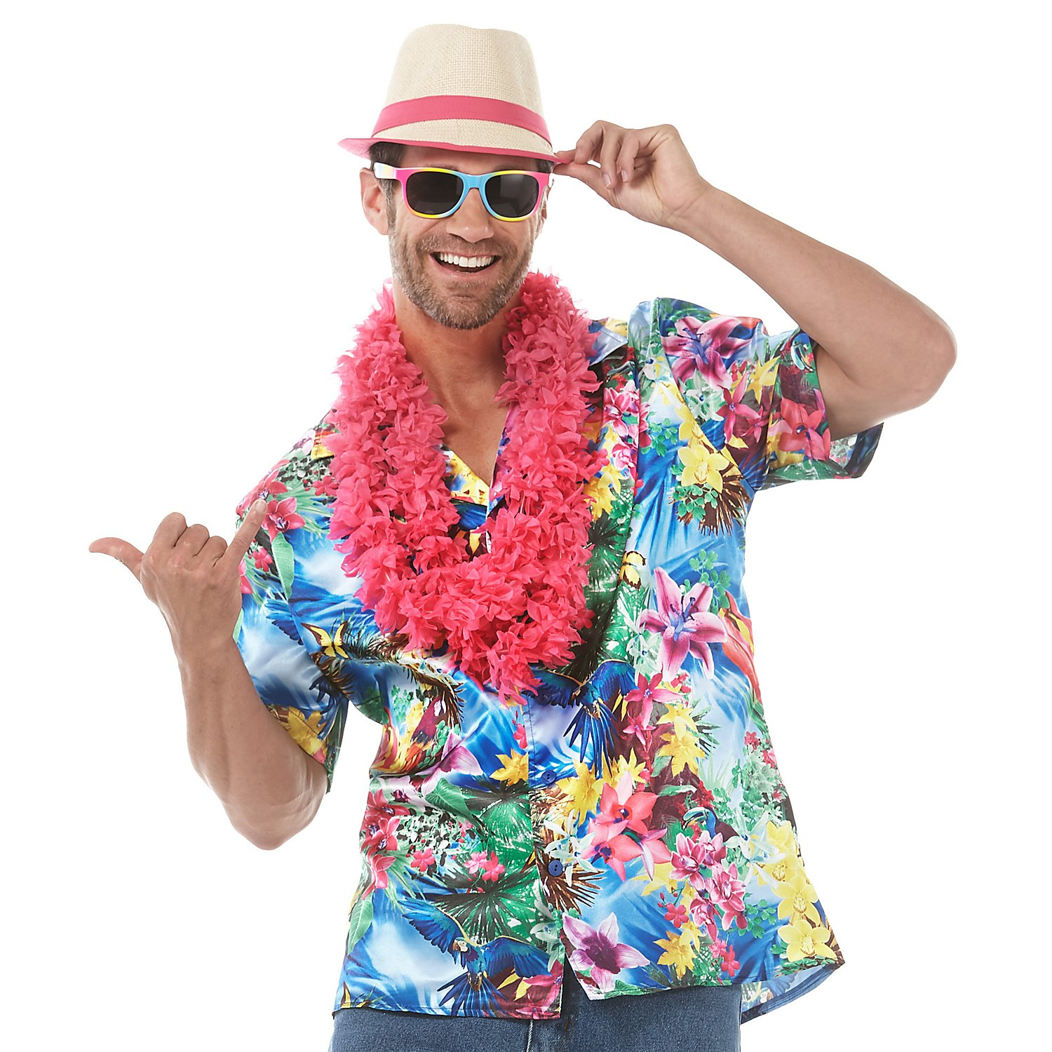 Hawaiihemd, bunt online kaufen | buttinette Karneval Shop