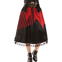 Jupe 'pirate', noir/rouge