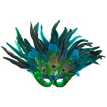 Masque 'paon', turquoise