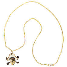 Piratenkette, gold/creme/schwarz