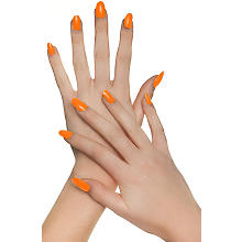Faux ongles, orange fluo