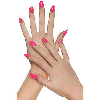 Faux ongles, rose vif