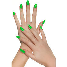 Faux ongles, vert