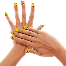 Faux ongles 'Peace', jaune