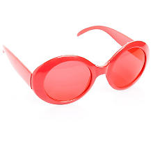 Lunettes 'Sixties', rouge
