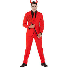 Tailleur homme 'diable', rouge