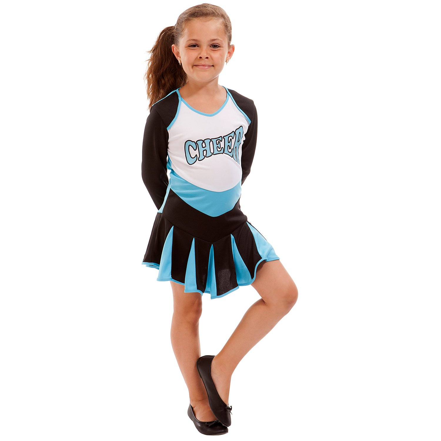Cheerleader Kostum Fur Kinder Turkis Online Kaufen Buttinette