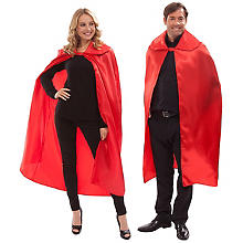 Cape en satin, rouge