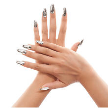 Faux Ongles, argent