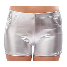 Hotpants, silber
