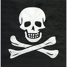 Serviettes en papier 'pirate', noir