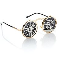 Brille 'Steampunk', gold