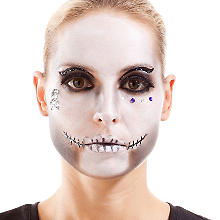Face Art Tattoo 'Totenkopf'