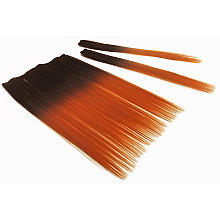 Extensions de cheveux, orange/marron foncé