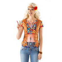 Hippie Shirt 'Peace' für Damen
