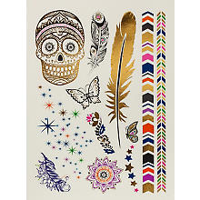 Kit de tatouages à coller 'Boho'