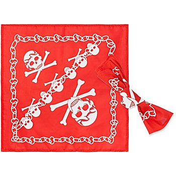 Foulard 'pirate', rouge/blanc, 2 pièces