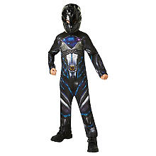 Black Power Ranger Kostüm für Kinder