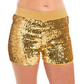 Pailletten-Hotpants, gold