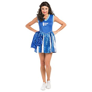 buttinette Cheerleader Kleid 'Eagle' für Damen, blau/weiß