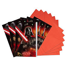 Invitations 'Star Wars', 6 pièces