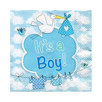 Papierserviette 'It's a Boy', 25 x 25 cm, 20 Stück
