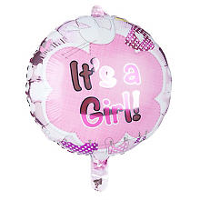 Folienballon 'It´s a Girl', Ø 43 cm