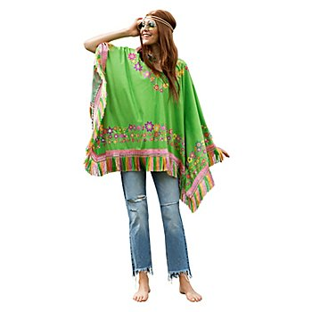 Hippie-Poncho 'Flower Power'