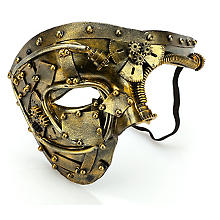 Steampunk-Maske 'Future', gold