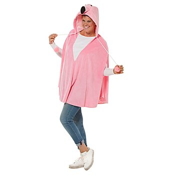 buttinette Flamingo-Poncho