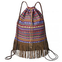 Sac de sport 'hippie', marron/multicolore