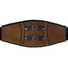 Ceinture Steampunk, marron/noir/or
