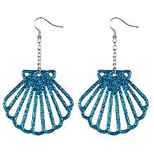 Crochets d'oreilles 'coquillages', turquoise