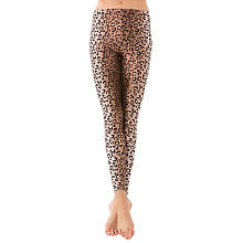 Leggings 'Leo-Look', braun/schwarz